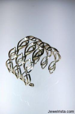 Sterling Silver Wrist Cuffs by Jewelry Designer Alberto Bossi