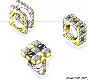 Diamond and Gold Rings By Angela Tonali