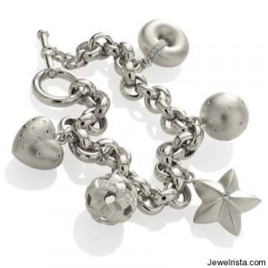 Etienne Perret Platinum Charm Bracelet