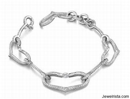 Elite Tension Collection Diamond Heart Bracelet By Jewelery Designer Gelin Abaci