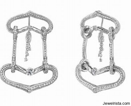 Elite Tension Collection Diamond Earrings By Jewelry Designer Gelin Abaci