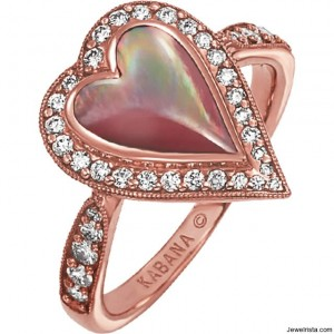 Kabana Diamond Heart Ring