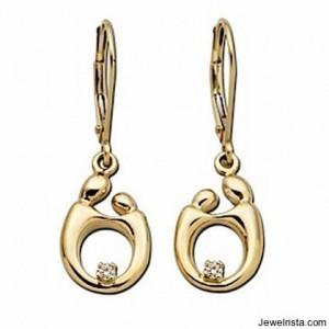 Kirchner Diamond and Gold Earrings
