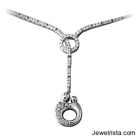 White Gold Mother and Child® Diamond Necklace By Jewelry Designers Kirchner