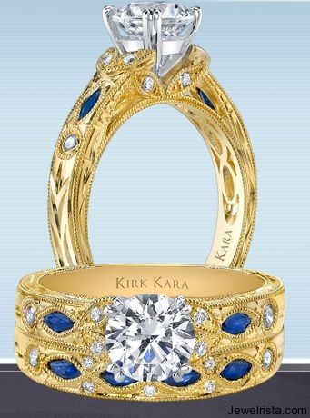 Hand Crafted and Engraved Engagement Rings By Jewelry Designer Kirk Kara