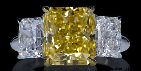 Yellow 3-Stone Diamond Ring By Lazare