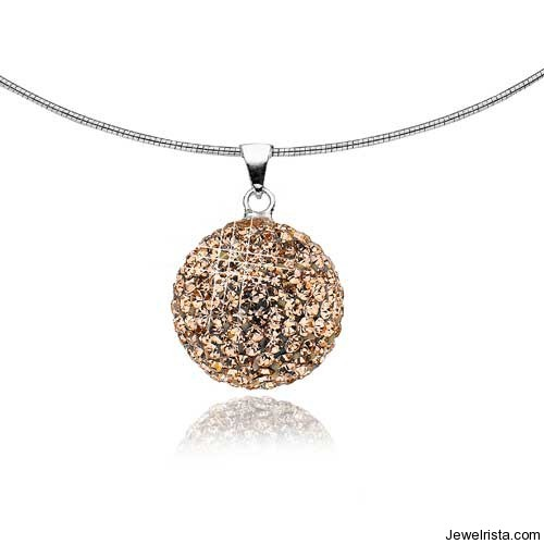 Rose Gold Sphere Pendant By Jewelry Designer Mischa