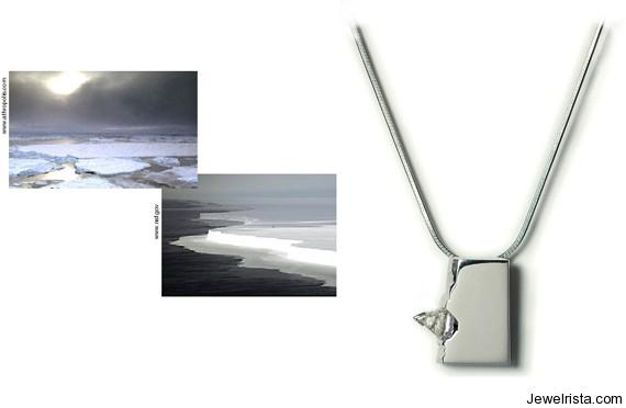 Ice Floe (Blue Ice) Necklace By Jewelry Designer Niki Kavakonis