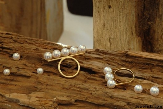 Gold Pearl Rings By Jewelry Designer Tasaki