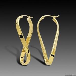 Charles Garnier Twisted Hoop Earrings
