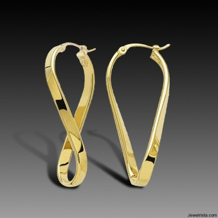 Charles Garnier Twisted Hoop Earrings