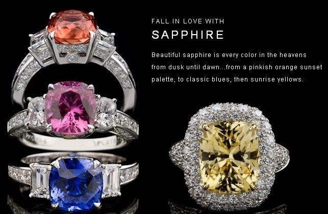 Sapphire Gemstones By Jewelry Designer Richard Krementz