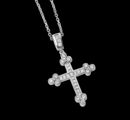 Diamond Cross Pendant By Jewelry Designer Ziva