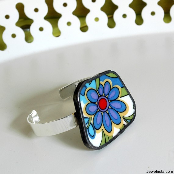 Recycled China Cuff Bracelet By Jewelry Designer The Broken Plate Pendant Co.