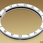 B.ZERO1 Bangle Bracelet in 18kt Gold and Steel