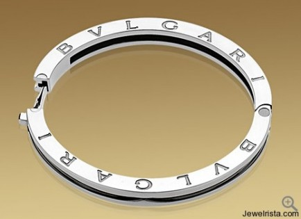 B.ZERO1 Bangle Bracelet in 18kt Gold and Steel