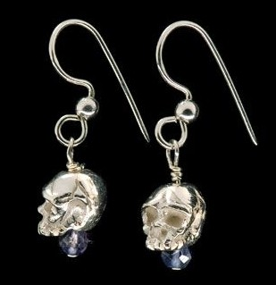 Dangle Stud Skull Earrings By Jewelry Designer Johnny Rocket