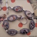 Alice in Wonderland Characters Sterling Silver Bracelet