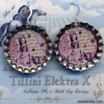 Red Riding Hood Antique Illustration Earrings
