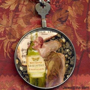 Absinthe Green Fairy Pendant
