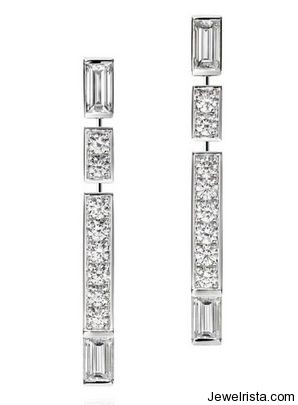 Diamond Earrings By Jewelry Designer Harry Winston