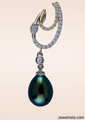 Masaaki Pearl and Diamond Pendant