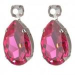 Red Gemstone LK Earrings