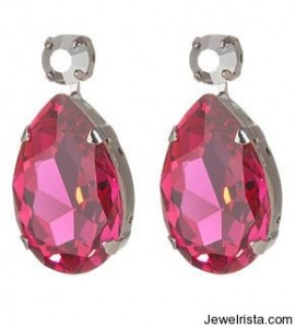Red Gemstone LK Earrings