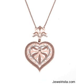 Peach Heart Charm By Jewelry Designer LK Designs
