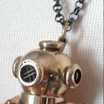 Antique Brass Scuba Helmet Chain