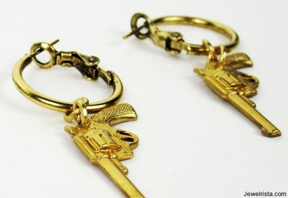 Pistol Hoop Earrings By Jewelry Designer Leviticus Jewelry