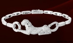 Cartier White Gold and Diamond Panther Bracelet