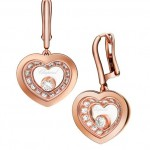 18kt Rose Gold Diamond Earrings By Chopard
