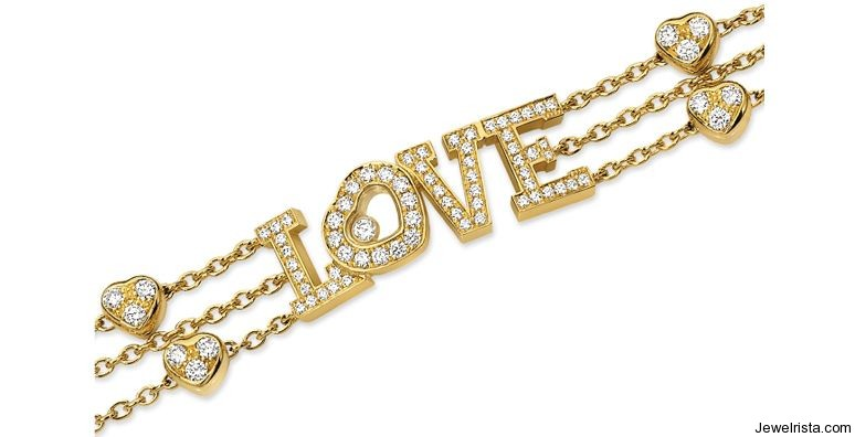 18kt Gold Love Diamond Bracelet By Jewelry Designer Chopard
