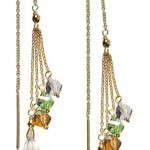 Gold Vermeil Bling String Threader Earrings
