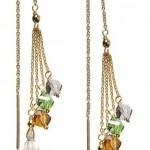 Gold Vermeil Bling String Threader Earrings