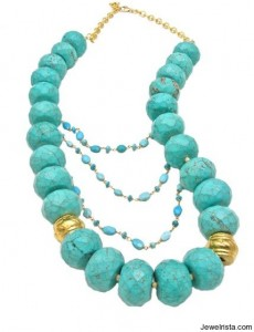 Turquoise and Vermeil Chain