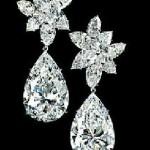 Pear Shaped Diamond Earrings