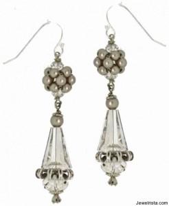 Swarovski Crystal Pearl Drop Earrings