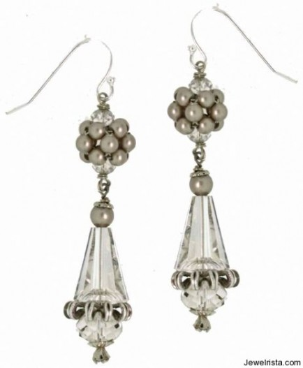 Swarovski Crystal Pearl Drop Earrings