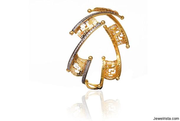 22ct Gold Bangle By Jewelry Designer Josco