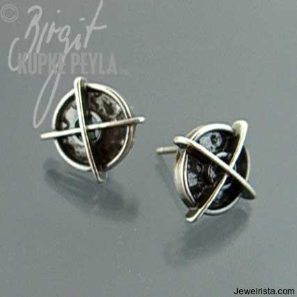 Silver Earrings By Jewelry Designer Kupke Peyla
