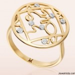 Gold and Diamond Mini Lalit Ring