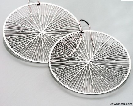 Circular Stainless Steel Earrings