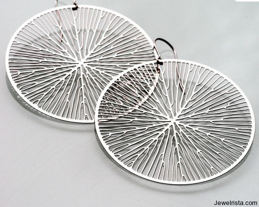 Circular Stainless Steel Earrings By Jewelry Designer Nervous System