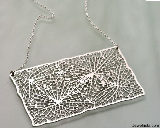 Rectangular Stainless Steel Pendant By Jewelry Designer Nervous System