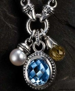 Sterling and 18kt Gold Charm Necklace