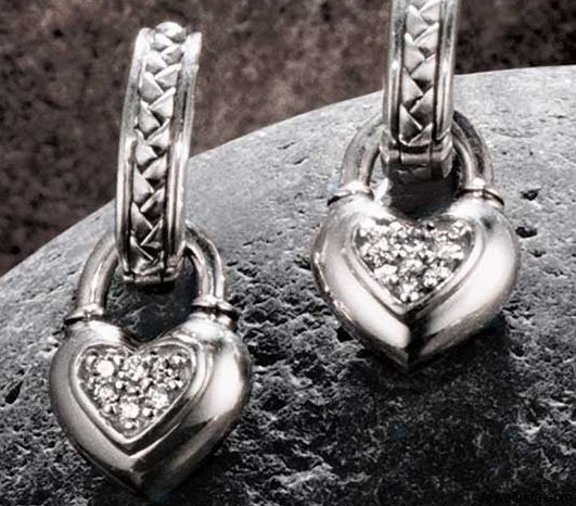 Diamond Heart Earrings By Jewelry Designer Scott Kay