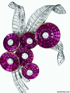 Diamond Bouquet Brooch
