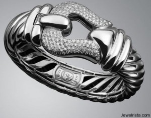 Diamond Cable Buckle Bracelet